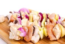 Free Chicken Skewers Stock Photography - 16256662
