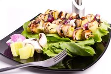 Free Chicken Skewers Royalty Free Stock Photos - 16256678