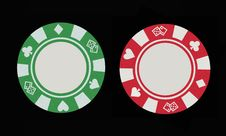Free Two Gaming Chips Royalty Free Stock Image - 16257166