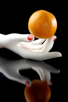 Free Orange In The Hand Royalty Free Stock Photo - 16257785