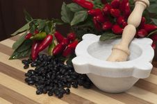 Free Blacks Beans And Chilli Royalty Free Stock Image - 16259166