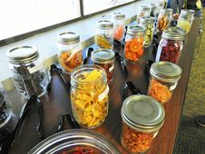 Free Jars Of Dried Fruits And Vegetables Royalty Free Stock Photography - 162501917
