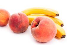 Free Peaches And Bananas Royalty Free Stock Photo - 16261165