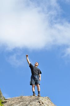 Free A Young Man Stands On A Cliff Top Royalty Free Stock Photos - 16262628