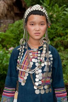 Free Portrait Young Akha In Laos Stock Photo - 16262790
