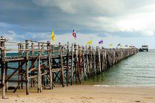 Free Wood Bridge To The Sea Stock Photos - 16263143