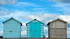 Free Three Beach Huts Stock Images - 16263884