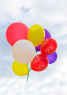 Free Colorful Party Balloons Royalty Free Stock Photos - 16263988