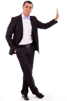 Free Full Body Of A Business Man Standing Stock Photography - 16264152
