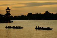 Free Sunset On A Small River In Borneo Royalty Free Stock Images - 16264419