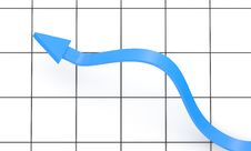 Free Blue Arrow On Chart Background Royalty Free Stock Photos - 16264708