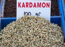 Seeds Of Cardamom Stock Photography