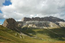 Free Veiw Of Massiv Sella In Dolomites. Royalty Free Stock Images - 16265969