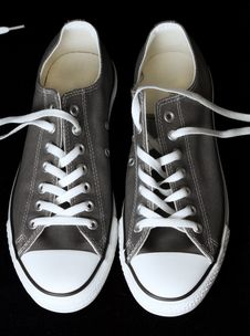 Free Gray Sneakers Classic Youth Footwear Stock Photography - 16266442