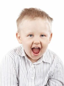 Free Portrait Of A Screaming Boy Stock Images - 16266904