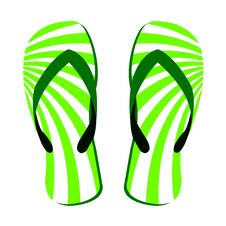 Free Green Slippers Stock Photography - 16267182