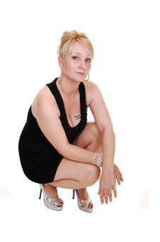 Free Girl In Black Dress. Stock Photos - 16267993