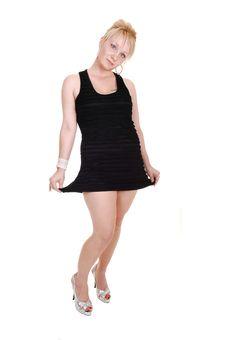 Free Girl In Black Dress. Royalty Free Stock Photos - 16267998