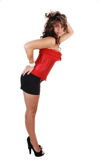 Free Pretty Girl In Red Corset. Royalty Free Stock Image - 16268156