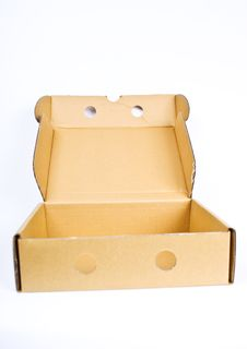 Empty Open Paper Box Royalty Free Stock Image