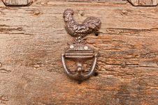 Cock As Doorknocker Stock Images