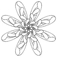 Free Rosette Original Drawing One Royalty Free Stock Photography - 16269897
