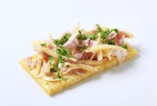 Crispbread With Ham And Cheese Royalty Free Stock Photography
