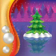 Free Christmas Tree With Forest Stock Image - 16270101