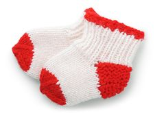 Free Pair Knitted A Socks Stock Photo - 16270190