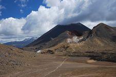 Mt. Ngauruhoe Volcano Royalty Free Stock Image