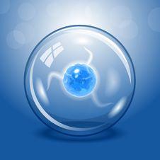 Blue Electric Lightning Ball Stock Photos