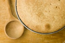 Free Fresh Pie And Spoon Royalty Free Stock Photo - 16271345