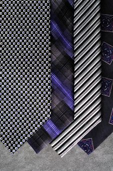 Free Four Ties With A Gray Background. Royalty Free Stock Image - 16272576