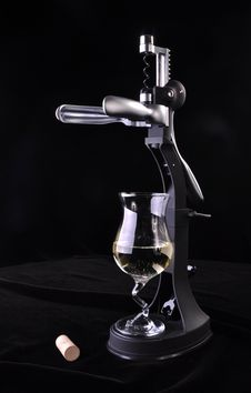 Modern Wine Opener Royalty Free Stock Photos