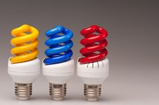 Free Yellow Blue Red Lamps Royalty Free Stock Photo - 16272925