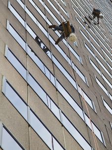 Free Window Washers Stock Photography - 16273482