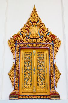 Traditional Thai Style Window Temple Royalty Free Stock Images