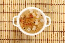 Free Chicken Broth With Crackers Royalty Free Stock Photos - 16273838