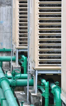 Free Pipe Line Of Industrial Cooler Stock Photo - 16274050
