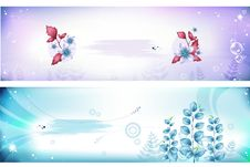Free Flower Banner Vector Royalty Free Stock Images - 16274059