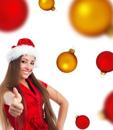 Young Women  Show The Thumb Stock Image