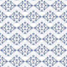 Free White-blue Seamless Pattern () Stock Image - 16275751