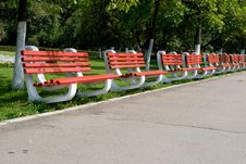 Free Red Benches Royalty Free Stock Image - 16275786