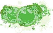 Free Green Floral Baner Stock Photography - 16276622