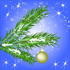 Christmas Tree. Vector Royalty Free Stock Images