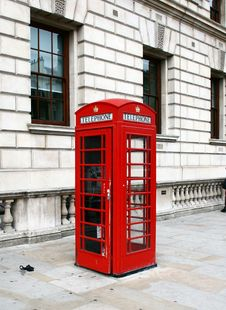 Free Red Telephone Booth In London Stock Photos - 16279063
