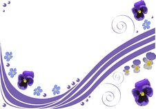 Free Pattern With Blue Pansy Flowers Royalty Free Stock Photos - 16279188