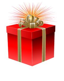 Free Red Gift Box Royalty Free Stock Image - 16279726