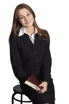 Free Attractive Business Woman Holding A Folder. Stock Image - 16279771