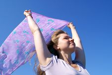 Free The Woman On A Wind Stock Images - 16279804